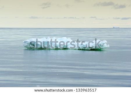 Small iceberg in Ross Sea. - stock photo