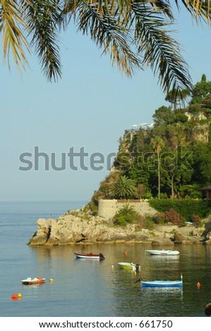 Small Island off the coast of Sicily - stock photo