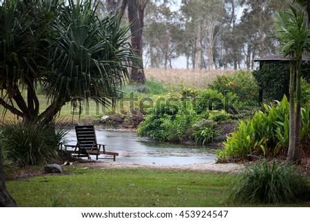 Small lake near Lake Weyba, Queensland, Australia - stock photo