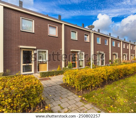 Small Modern Row Houses in Europe - stock photo