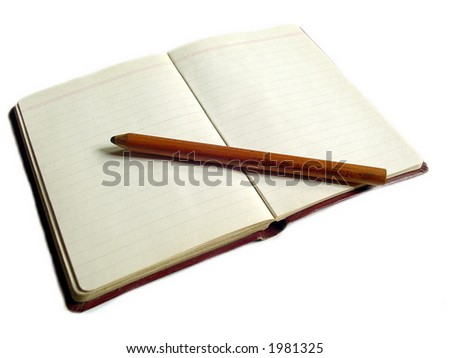 Small notebook with a pencil - stock photo