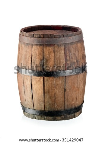 Small old wine barrel - stock photo