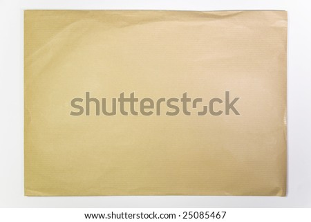 small packet envelope isolated - stock photo