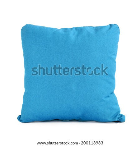 Small pillow or cushion isolated on white - stock photo