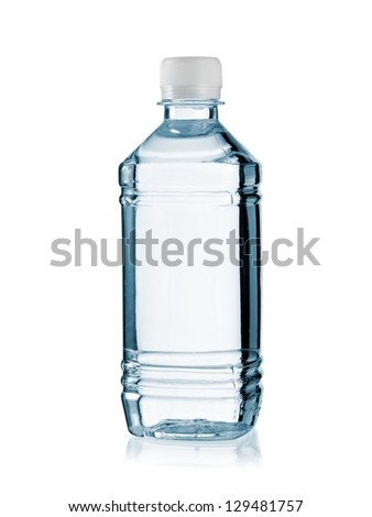 Small plastic water bottle - stock photo