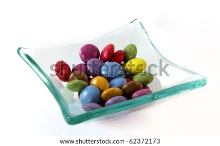 small round candies different colors - stock photo