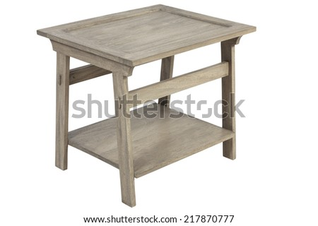 Small simple vintage wooden table - stock photo