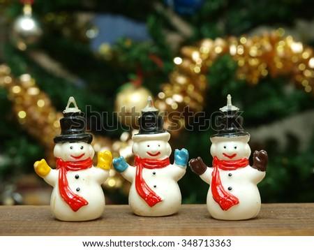 Small snowmen composition  - stock photo