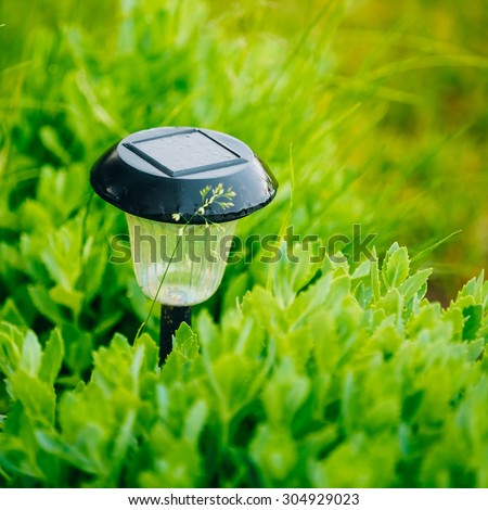 Solar Garden Lights Stock Photos Images Pictures