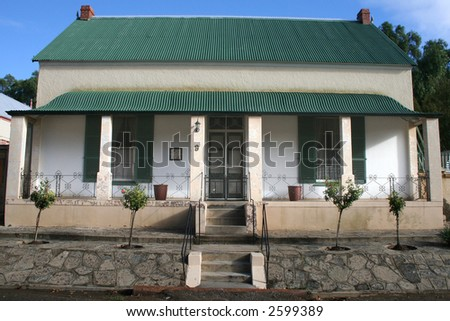 Small South African Karoo house - stock photo