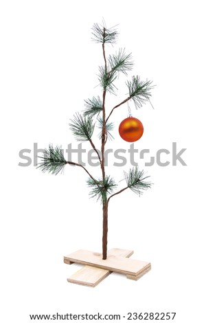 Small Sparse Christmas Tree  - stock photo