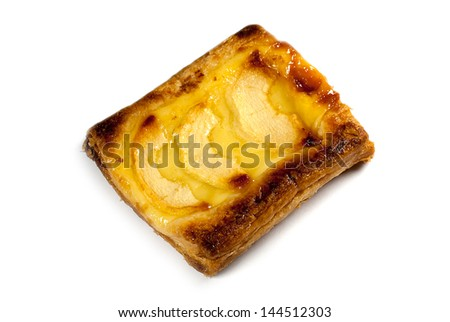 Small  square apple pie with jam square - stock photo