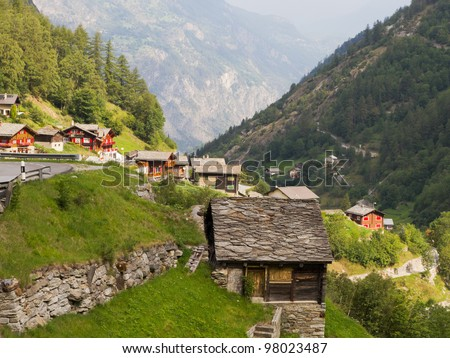 Cottage old roofing slate stock photos images pictures shutterstock - The tiny house village a miniature settlement ...