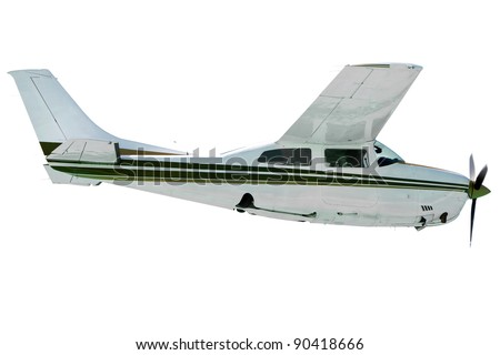 Small tourist plane isolated on white - stock photo