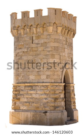 Small tower, isolated against background - stock photo