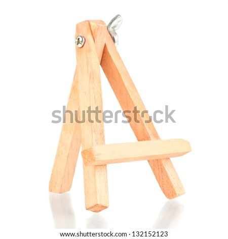 Small tripod for painting without canvas over a white background - stock photo