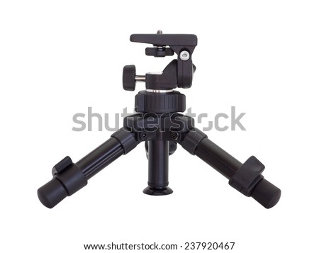 small tripod made of plastic isolated on white background - stock photo