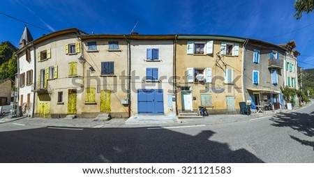 small village of Barles in the region Alpes des Haute Provence - stock photo