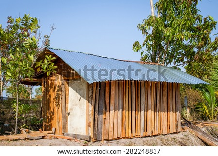 Small wooden house  - stock photo