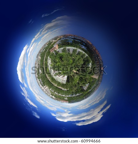 Small world of the city - stock photo