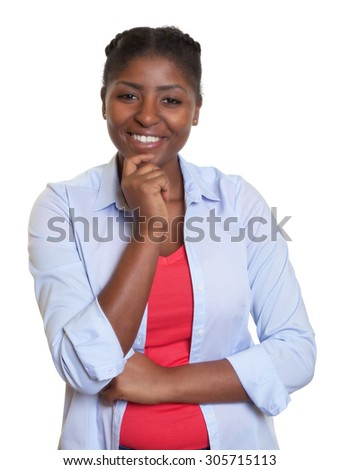 Smart african woman with casual clothes - stock photo