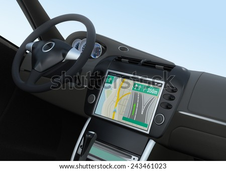 Smart car navigation interface in original design - stock photo