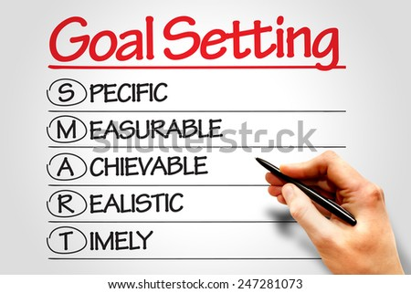 SMART Goal Setting business concept - stock photo