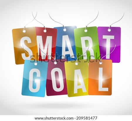 smart goal tags illustration design over a white background - stock photo
