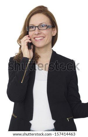 smart phone in action - stock image - stock photo