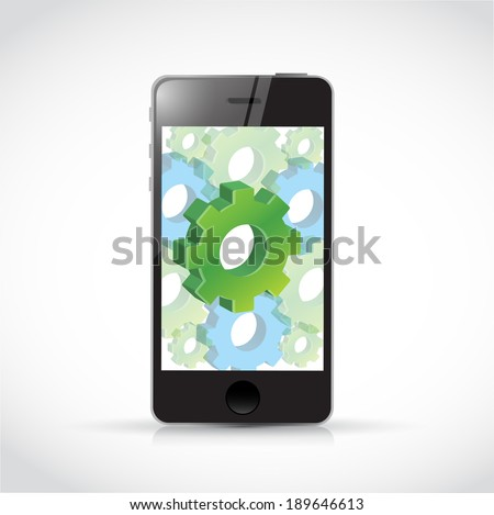 smart phone industrial concept illustration design over a white background - stock photo