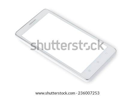 smart phone isolated white background - stock photo
