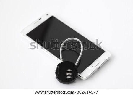 smart phone security - stock photo