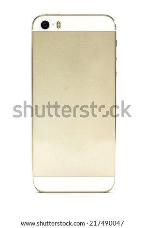Smart phone,The back of the phone - stock photo