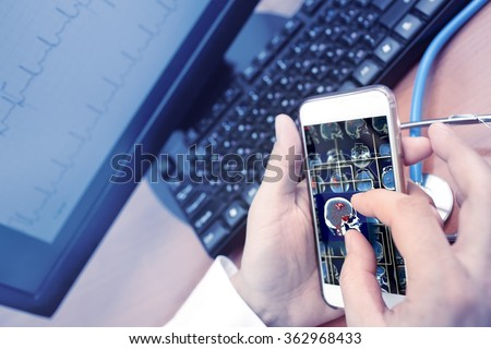 Smart technologies in medical industry - stock photo
