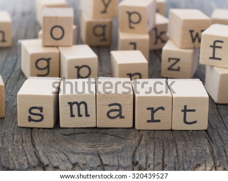SMART word made of wooden letters - stock photo