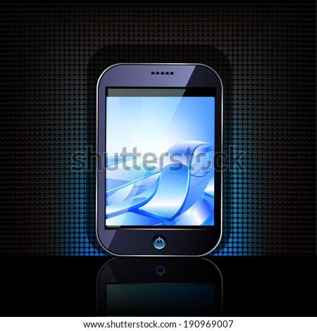 Smartphone editable file. Original design. Raster copy. - stock photo