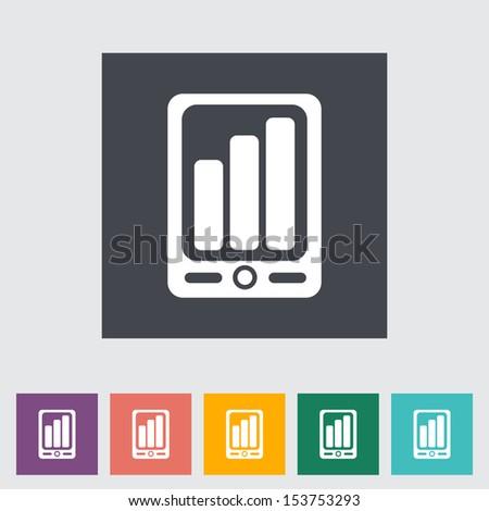 Smartphone flat icon.  - stock photo