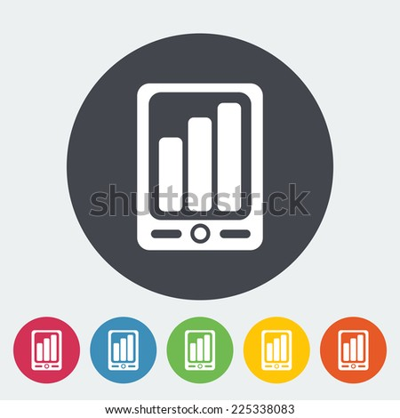 Smartphone. Single flat icon on the circle.  - stock photo