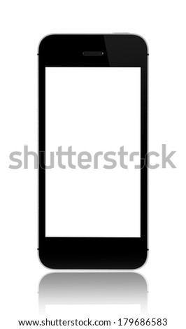 Smartphone white screen - stock photo
