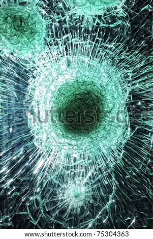 Smashed glass - stock photo