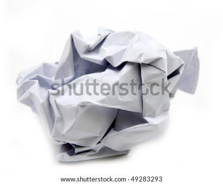 smashed paper - stock photo