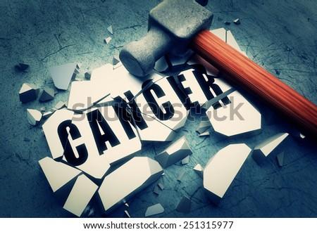 Smashing cancer - stock photo