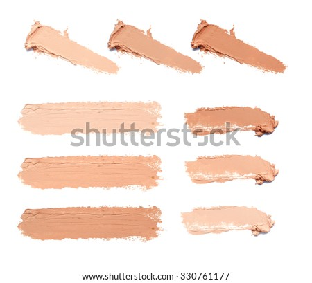 smear makeup  tone - stock photo