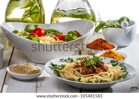 Smells of Italian cuisine - stock photo