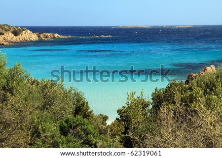 Smerald coast Principe cove in Arzachena Olbia province Sardinia island Italy - stock photo