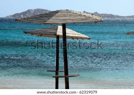 Smerald coast Romazzino cove in Arzachena, Olbia province, Sardinia island, Italy - stock photo