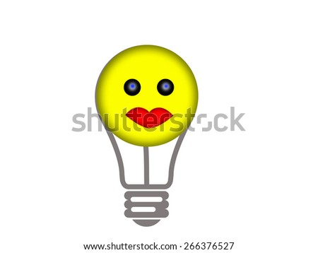 Smile face as the energy source - stock photo