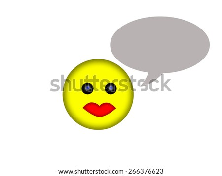 Smile face saying - stock photo