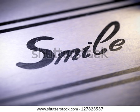 smile ( my own font )  Full collection of icons like that is in my portfolio - stock photo