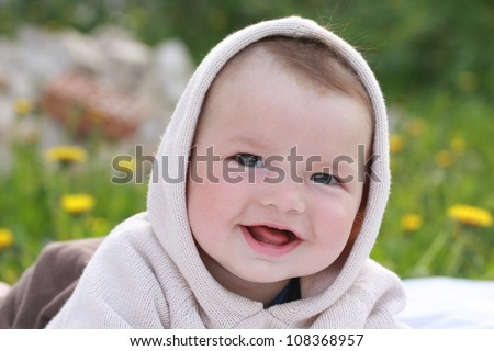 smile of a baby - stock photo
